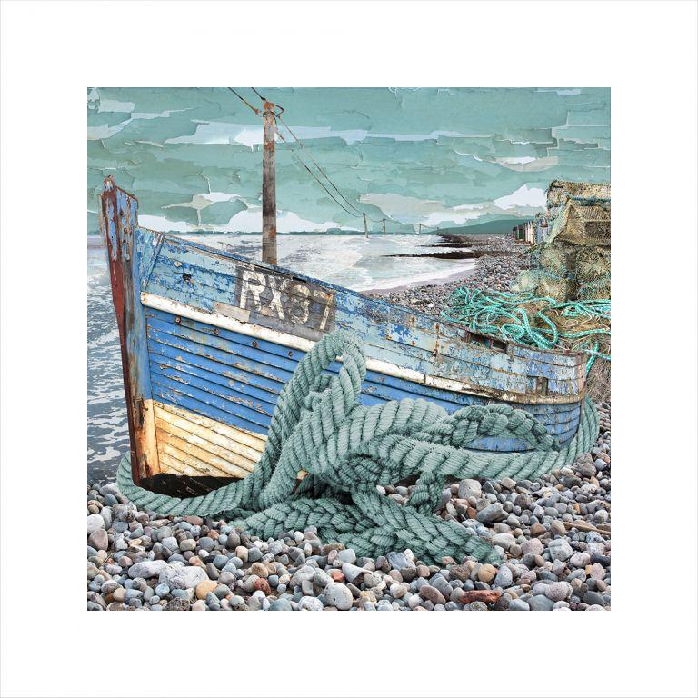 Affordable Art, Art for Sale, Art online, Art prints, Claire Gill, Arist, Limited Edition Prints, Seascape 62 limited edition print, buy art, seascapes, collect art, beach, boat, coastal art