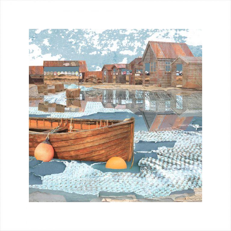 Affordable Art, Art for Sale, Art online, Art prints, Claire Gill, Artist Seacsape 65 limited edition print, limited edition print, buy art, seascapes, coastal art, digital photomontage, Southwold