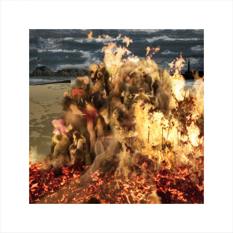 Claire Gill, Claire Gill Artist, Seascape, Limited edition print, Southwold, Digital Photomontage, Digital Art, Card, Buy Art, Collect Art, TS Eliot, The Wasteland, Journeys with the Wasteland, Lombard Street Gallery, On Margate Sands, The Fire Sermon