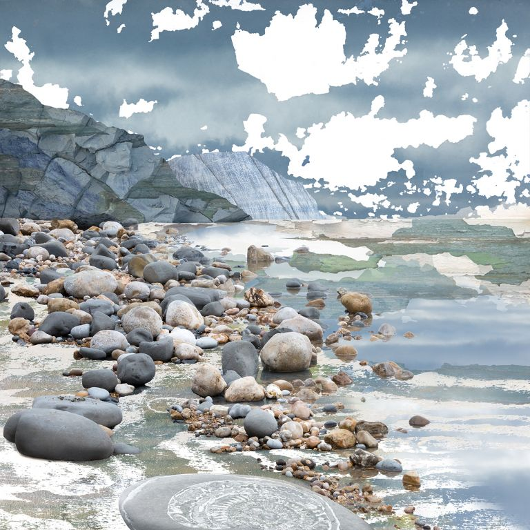 Developing Seascapes, the 365 day challenge, Claire Gill, Artist Claire Gill, Claire Gill Fine Art, Art Challenge, Digital Photomontage, Inspiration, seascapes, Creating Art in the Cracks, Day#36