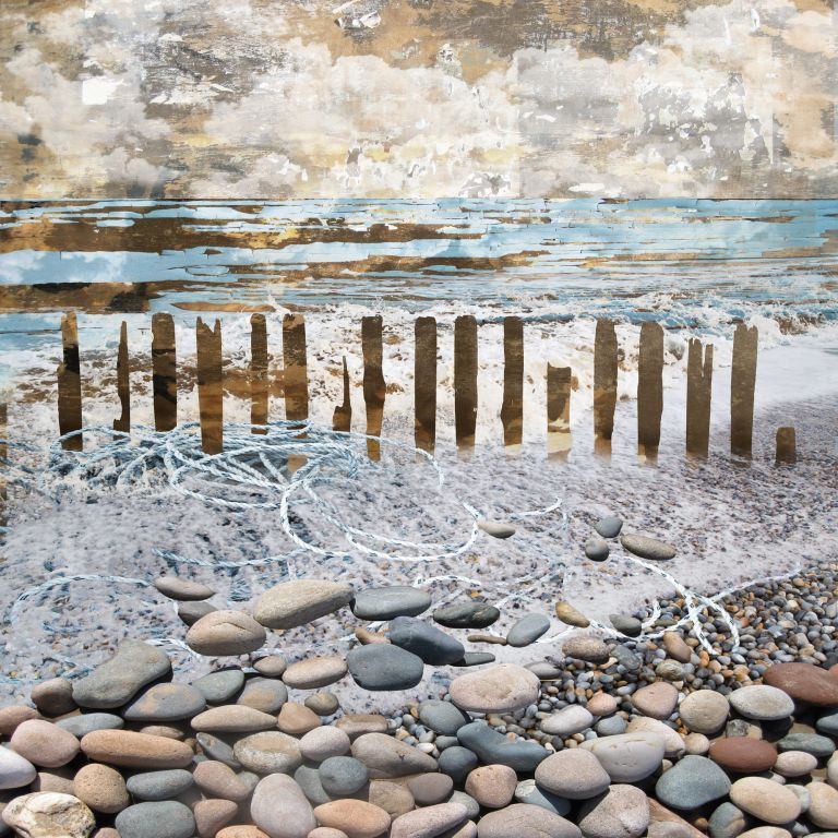 Developing Seascapes, the 365 day challenge, Claire Gill, Artist Claire Gill, Claire Gill Fine Art, Art Challenge, Digital Photomontage, Inspiration, seascapes, Creating Art in the Cracks, Day#38