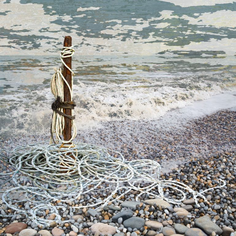 Claire Gill. fine art card, greeting card, seascapes, photomontage, coastal art, limited edition prints, seascape 68, Aldeburgh