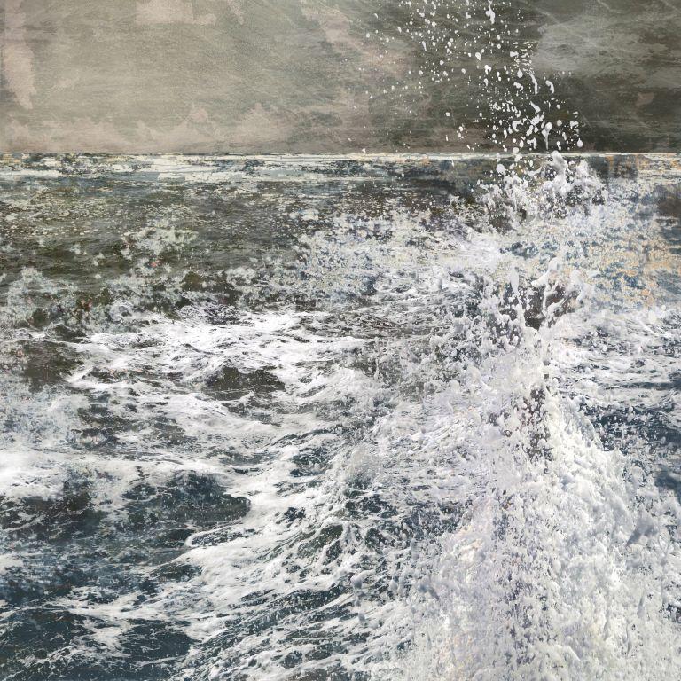 Claire Gill. fine art card, greeting card, seascapes, photomontage, coastal art, limited edition prints, seascape 70, sea, waves