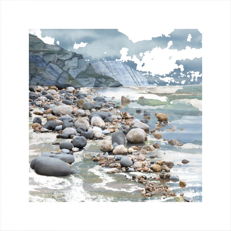Affordable Art, Art for Sale, Art online, Art prints, Claire Gill, Fine Art Print, Claire Gill Artist, Seascape, Limited edition print, Boat, Digital Photomontage, Digital Art, Card, Buy Art, Collect Art, Jurassic Coast, Charmouth, Dorset, Seascape 69 Limited Edition Print