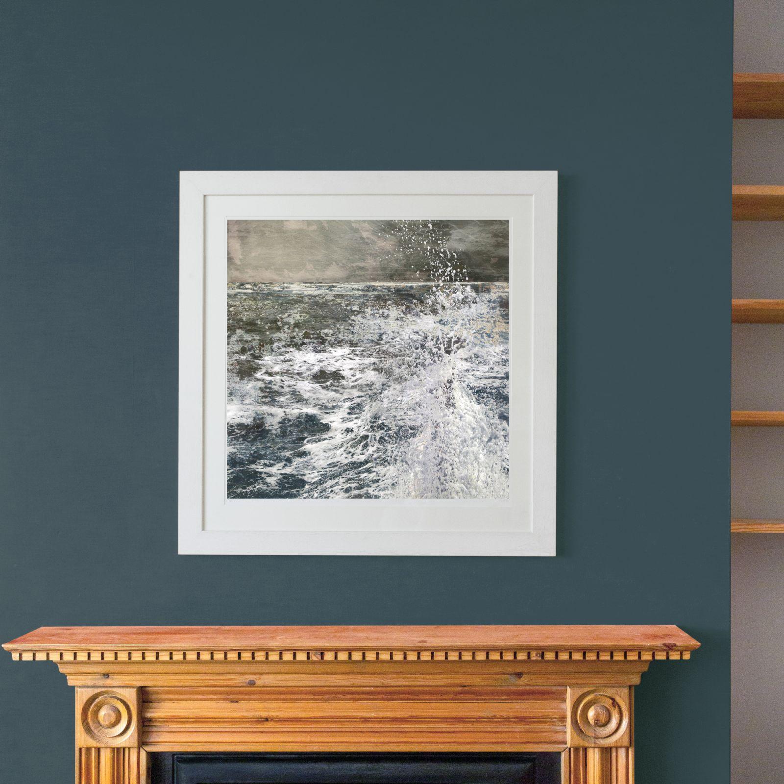 Framed art, Art in situ, Art walls, art for interiors, seascapes, coastal art, Claire gill, artist claire gill, limited edition coastal print, contemporary fine art prints