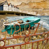 Claire Gill. fine art card, fine art greeting card, greeting card, seascapes, photomontage, coastal art, limited edition prints, seascape 37, Seasalter, Whitstable,