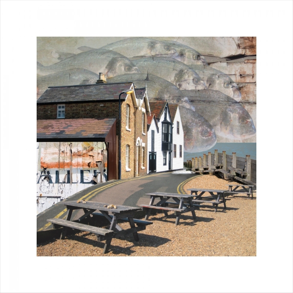 Claire Gill. fine art print, seascapes, photomontage, coastal art, limited edition prints, seascape 1, Whitstable