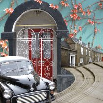 Claire Gill, Artist, Wallscape 4 Fine Art greeting card, fine art greeting card, buy art, North Walsingham, North Norfolk, Morris Minor