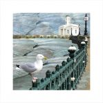 Claire Gill, Artist, seascapes, limited edition print, buy art, collect art, Margate, digital photomontage, seagull, Lombard street gallery