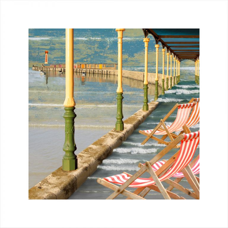 Claire Gill, Artist, Margate Limited Edition Prints, seascapes, limited edition print, buy art, collect art, Margate, digital photomontage, seagull, Lombard street gallery