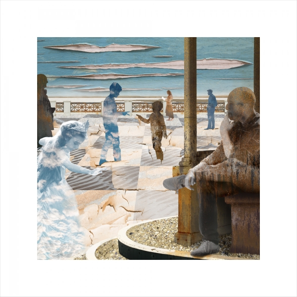 Claire Gill, Claire Gill Artist, Seascape, Limited edition print, Southwold, Digital Photomontage, Digital Art, Card, Buy Art, Collect Art, TS Eliot, The Wasteland, Journeys with the Wasteland, Lombard Street Gallery, On Margate Sands, A Game of Chess
