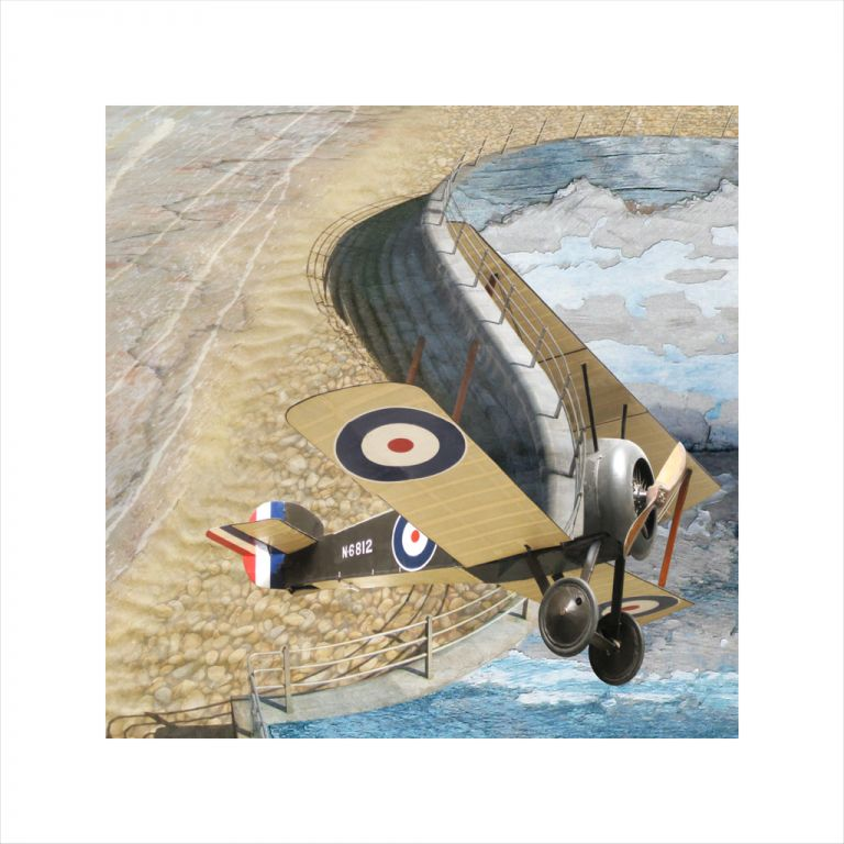Affordable Art, Art for Sale, Art online, Art prints, Claire Gill, Limited edition prints, digital photomontage, fine art prints, hahnemuhle, coastal art, Collect Art, seascape 17, Sopwith Camel, Imperial War museum, Broadstairs