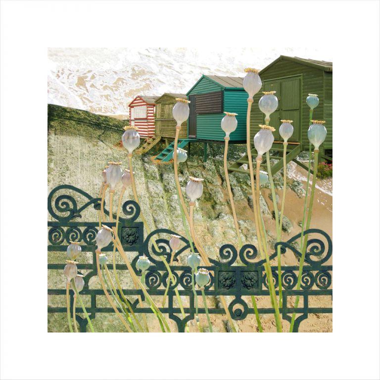 Affordable Art, Art for Sale, Art online, Art prints, Claire Gill, Limited edition prints, digital photomontage, fine art prints, hahnemuhle, coastal art, Collect Art, seascape 19, Whitstable, Poppyheads