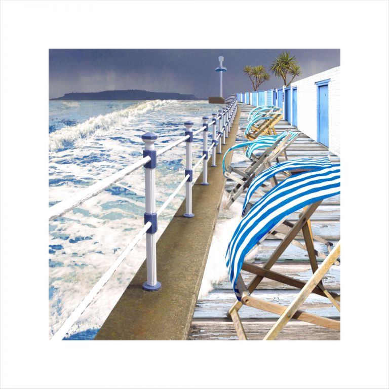 Affordable Art, Art for Sale, Art online, Art prints, Claire Gill, digital photomontage, Limited edition print, Fine art print, collect art, seascape 26, coastal art, weymouth, portland