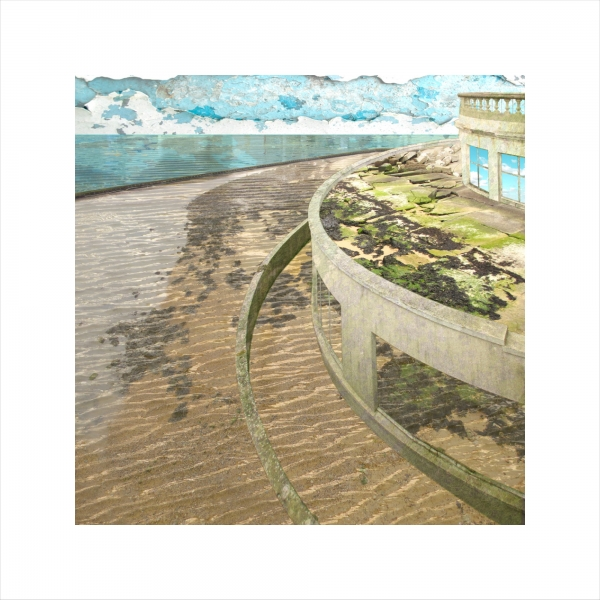 Claire Gill, digital photomontage, Limited edition print, Fine art print, collect art, seascape 30, coastal art, Ramsgate