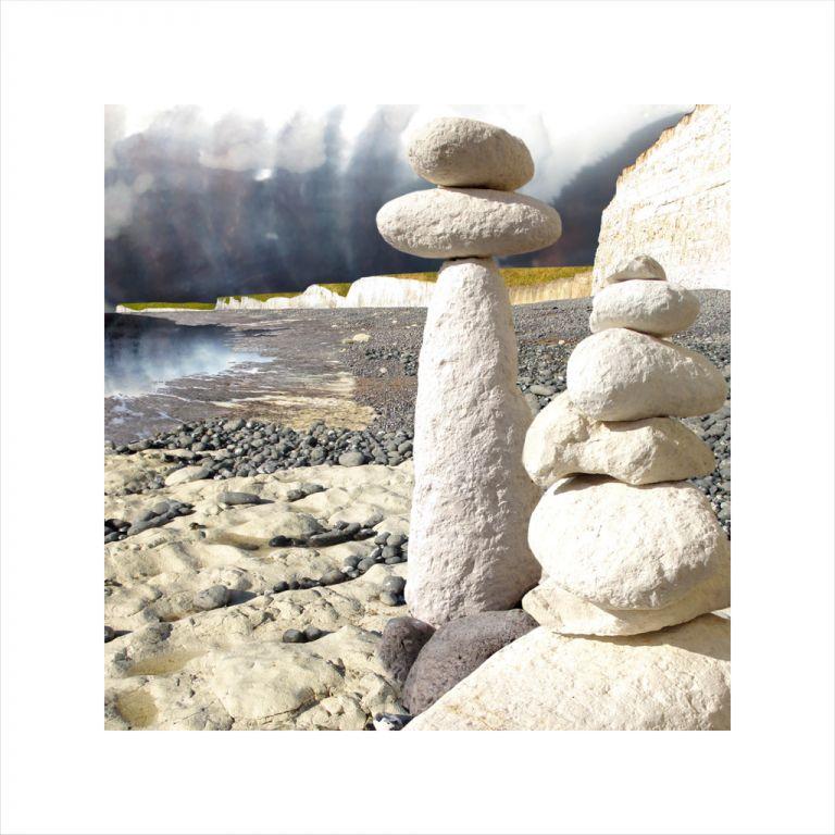 Affordable Art, Art for Sale, Art online, Art prints, Claire Gill, Limited edition prints, digital photomontage, fine art prints, hahnemuhle, coastal art, Collect Art, seascape 34, Birling Gap, Chalk, Eastbourne