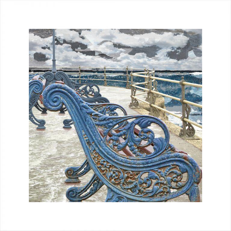 Affordable Art, Art for Sale, Art online, Art prints, Claire Gill, Limited edition prints, digital photomontage, fine art prints, hahnemuhle, coastal art, Collect Art, seascape 48, Swanage