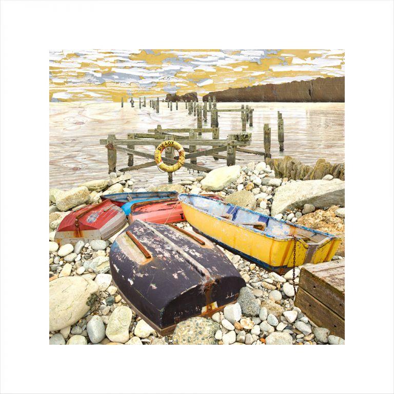 Affordable Art, Art for Sale, Art online, Art prints, Claire Gill, Limited edition prints, digital photomontage, fine art prints, hahnemuhle, coastal art, Collect Art, seascape 52, Studland, Swanage