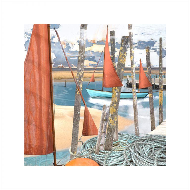 Affordable Art, Art for Sale, Art online, Art prints, Claire Gill, Limited edition prints, digital photomontage, fine art prints, hahnemuhle, coastal art, Collect Art, seascape 54, Blakeney, North Norfolk