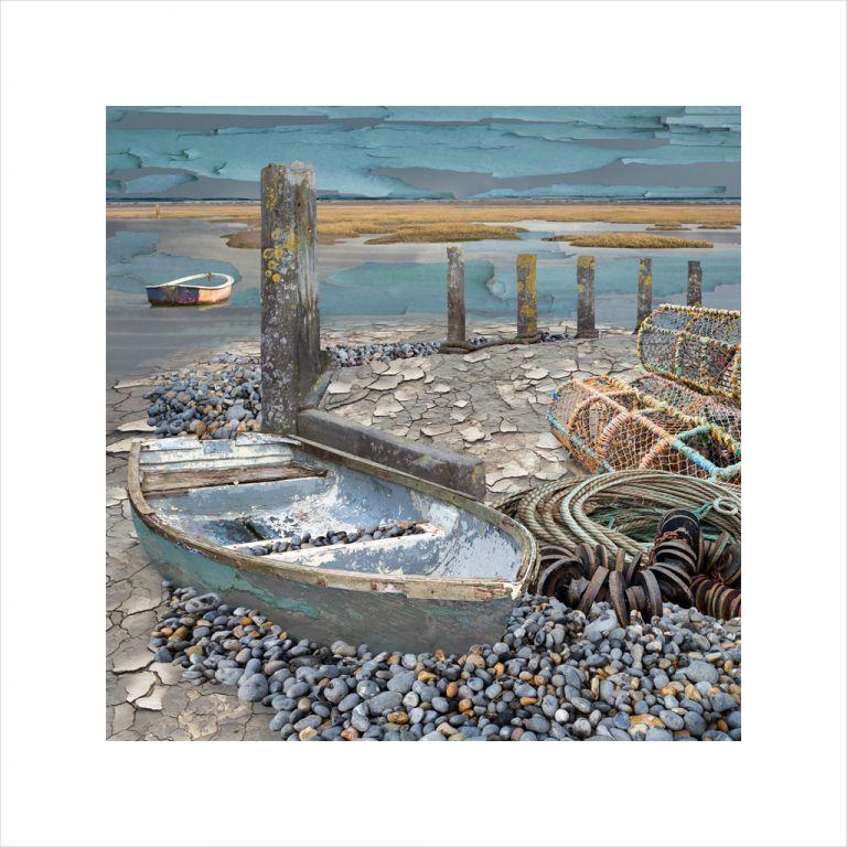 Affordable Art, Art for Sale, Art online, Art prints, Claire Gill, Limited edition prints, digital photomontage, fine art prints, hahnemuhle, coastal art, Collect Art, seascape 59, North Norfolk