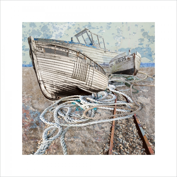 Claire Gill, Limited edition prints, seascape 60, digital photomontage, fine art prints, hahnemuhle, coastal art, Collect Art, Dungeness