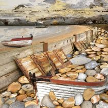 Claire Gill. fine art card, fine art greeting card, greeting card, seascapes, photomontage, coastal art, limited edition prints, seascape 15, west merest, essex